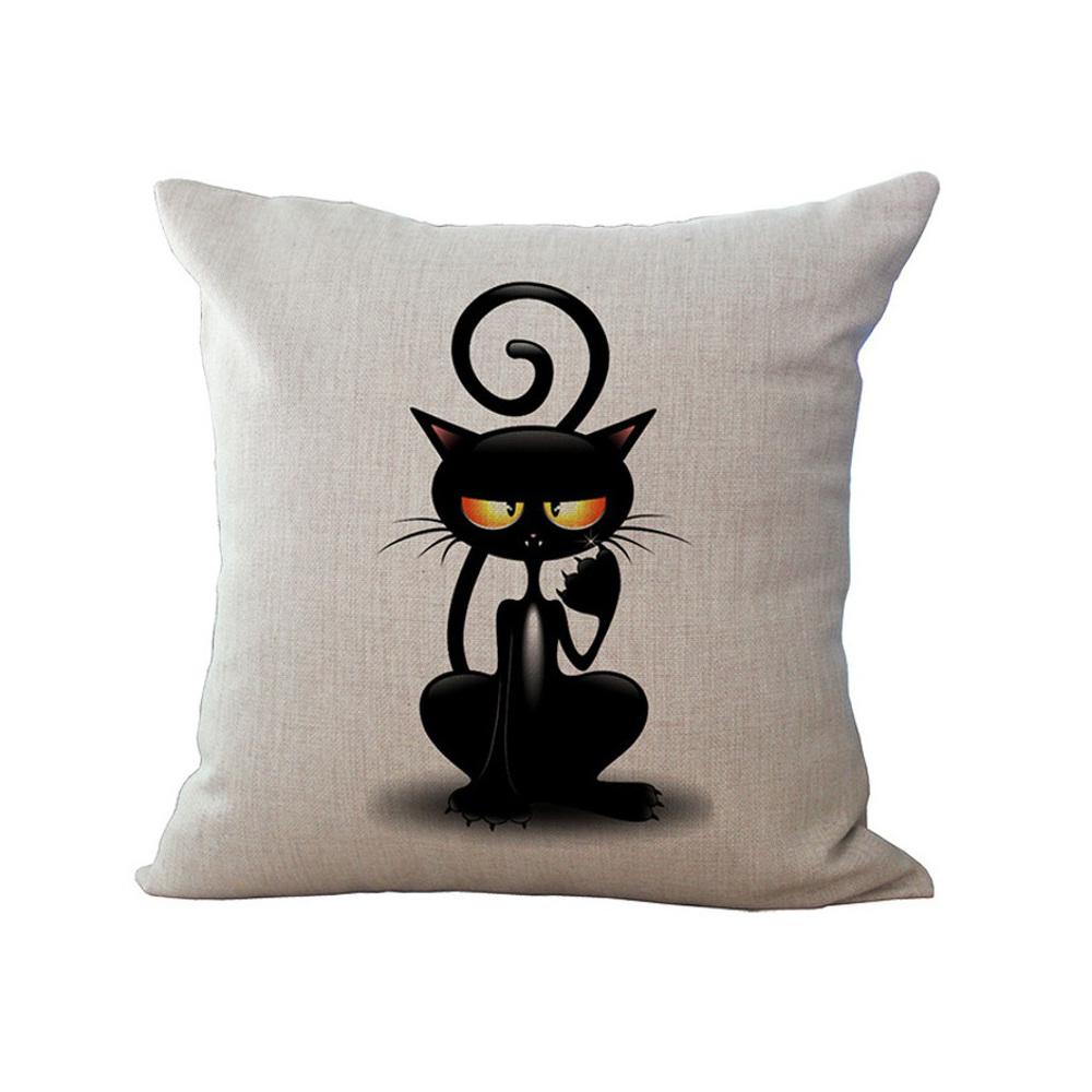 housse de coussin chat blas mon chat ador. Black Bedroom Furniture Sets. Home Design Ideas